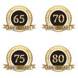 Sistema de sellos del aniversario Fotografía de archivo libre de regalías