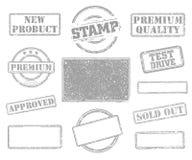 Sistema de sellos de goma imágenes de archivo libres de regalías