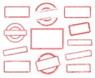 Sistema de sellos de goma vacíos ilustración del vector