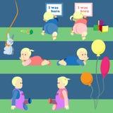 Sistema de sentar y de jugar a bebés Imagenes de archivo