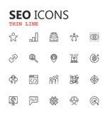 Sistema de SEO y de iconos del desarrollo Fotos de archivo