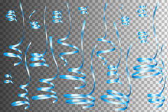 Sistema de Serpentine Ribbons colorida realista libre illustration