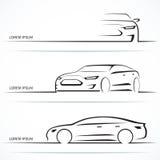Sistema de siluetas de lujo del coche Ilustración del vector Imagenes de archivo