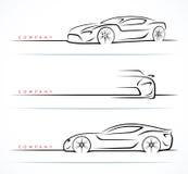 Sistema de siluetas del coche de deportes Ilustración del vector Fotografía de archivo