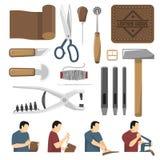Sistema de Skinner Tools Decorative Icons Imágenes de archivo libres de regalías