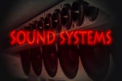 Sistema de som 3d ilustração royalty free