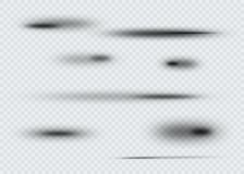 Sistema de sombra oval transparente con los bordes suaves Ilustración del vector Fotos de archivo libres de regalías