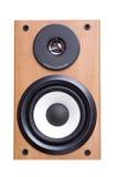 Sistema de sonido acústico con dos altavoces en el caso de madera Imágenes de archivo libres de regalías