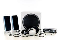 Sistema de sonido de alta fidelidad 2.1 Imágenes de archivo libres de regalías