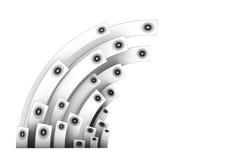 sistema de sonido del altavoz 3d en plata sobre blanco Fotos de archivo libres de regalías