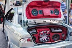 Sistema de sonido del coche Foto de archivo libre de regalías