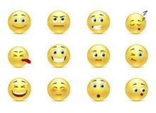 Sistema de sonrisas pensativas Foto de archivo libre de regalías