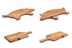 Sistema de tajaderas gastadas hechas de la madera Foto de archivo libre de regalías