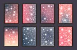 Sistema de tarjeta con el fondo decorativo floral de los elementos de la mandala que brilla intensamente Banderas adornadas orien Fotografía de archivo libre de regalías