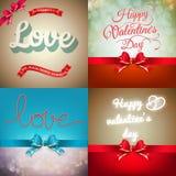 Sistema de tarjeta de la tarjeta del día de San Valentín EPS 10 Imagenes de archivo