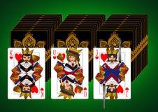 Sistema de tarjeta de rey Queen Jack Fotografía de archivo libre de regalías