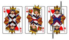 Sistema de tarjeta de rey Queen Jack Imagenes de archivo