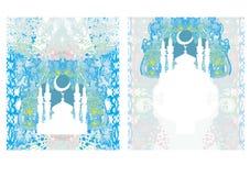 Sistema de tarjeta religioso abstracto - Ramadan Kareem Design Imágenes de archivo libres de regalías