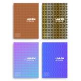 Sistema de tarjetas abstractas con coincidencia de las capas Aplicable para las cubiertas, los carteles, los carteles, los aviado foto de archivo libre de regalías