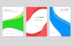 Sistema de tarjetas abstracto del folleto del vector Plantilla de flyear, revistas, carteles, cubierta de libro, banderas del art libre illustration