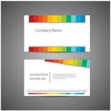Sistema de tarjetas corporativo Fotografía de archivo libre de regalías