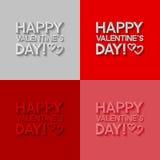 Sistema de tarjetas de felicitación del día de tarjetas del día de San Valentín Fotografía de archivo