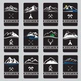 Sistema de tarjetas de la montaña Fotos de archivo