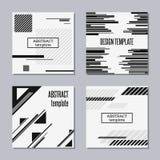 Sistema de tarjetas de moda con diseño plano ilustración del vector