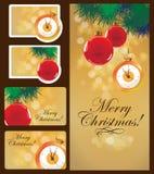 Sistema de tarjetas de Navidad Fotografía de archivo libre de regalías