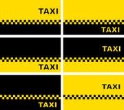 Sistema de tarjetas de visita del taxi Fotografía de archivo libre de regalías