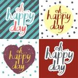 Sistema de tarjetas del día de tarjeta del día de San Valentín Fotografía de archivo libre de regalías