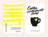 Sistema de tarjetas del descuento del café Modelo para su diseño Foto de archivo libre de regalías