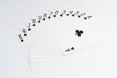 Sistema de tarjetas del póker de Ace Foto de archivo libre de regalías