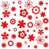 Sistema de tarjetas floral del d?a de fiesta del vintage lindo del modelo ilustración del vector