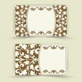 Sistema de tarjetas florales de la invitación Foto de archivo libre de regalías
