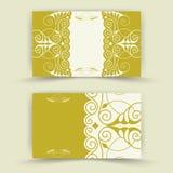 Sistema de tarjetas florales de la invitación Imágenes de archivo libres de regalías