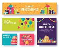 Sistema de tarjetas de información del regalo Sorprenda la plantilla de flyear, revistas, carteles, cubierta de libro, banderas B ilustración del vector