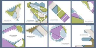 Sistema de tarjetas de moda con diseño dinámico plano Aplicable para las cubiertas, los carteles, los carteles, los aviadores y l libre illustration