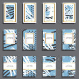 Sistema de tarjetas universales dibujadas mano Fotos de archivo libres de regalías