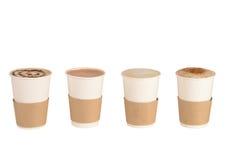 Sistema de tazas de café y de chocolate Imagen de archivo libre de regalías