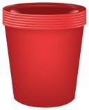 Sistema de tazas plásticas Imagen de archivo libre de regalías