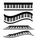 Sistema de teclados de piano, ejemplo común del vector ilustración del vector