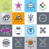 Sistema de tecnología de los logotipos del vector Foto de archivo libre de regalías