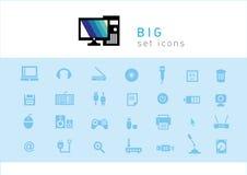Sistema de tecnología electrónica de los iconos ilustración del vector