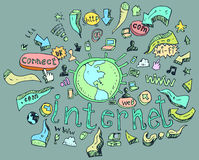 Sistema de tecnología social. Imagen de archivo libre de regalías