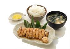 Sistema de Teriyaki del pollo Imagenes de archivo