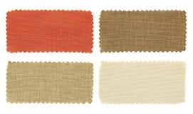 Sistema de textura de las muestras de la muestra de la tela Foto de archivo libre de regalías