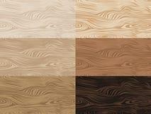 Sistema de texturas de madera del vector Foto de archivo libre de regalías