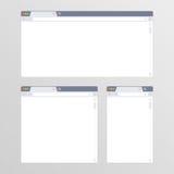 Sistema de todos los navegadores del tamaño ilustración del vector