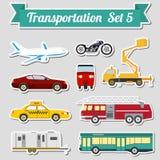 Sistema de todos los tipos de icono del transporte para crear su propio infogr stock de ilustración